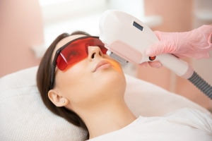 Laser,Removal,Hair,Unwanted,On,Face,Young,Woman.,Health,And